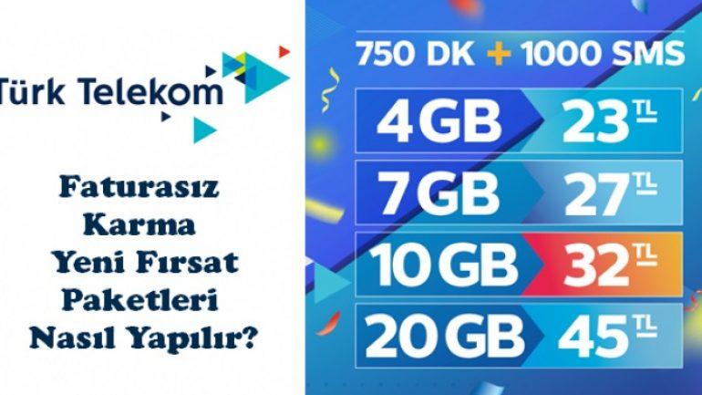Türk Telekom Faturasız Paketler ve Tarifeler 2020 | Bedava İnternet